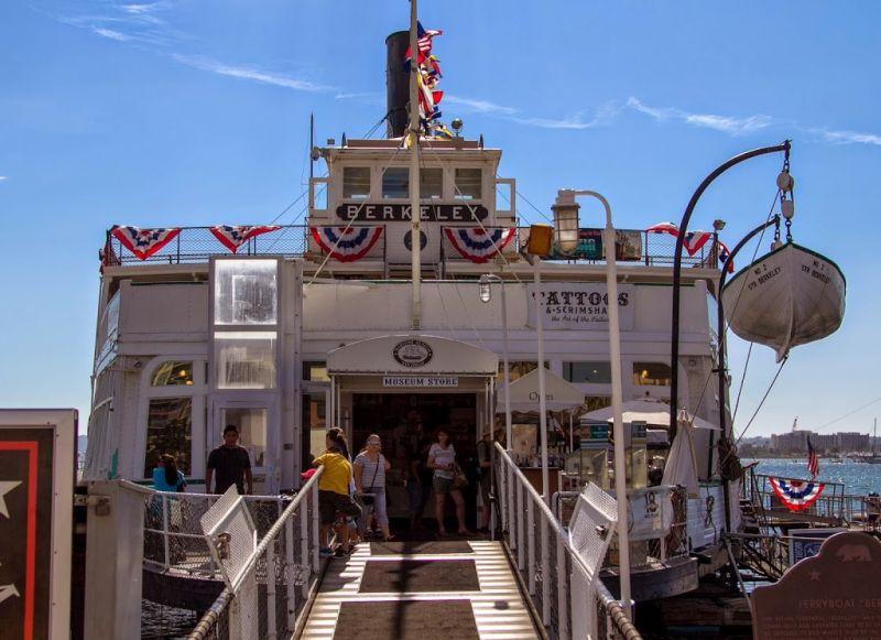 Морской музей Сан-Диего. Паром Беркли. Вход