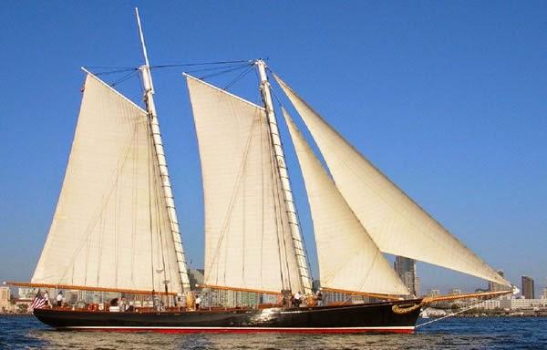Морской музей Сан-Диего. Яхта Америка
