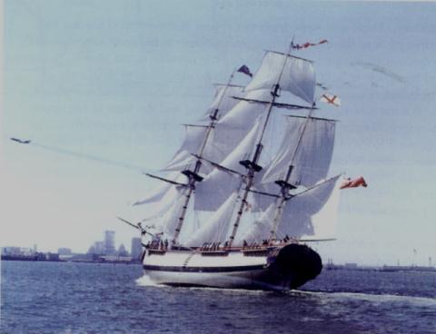 Морской музей Сан-Диего. HMS Surprise в 1970 году