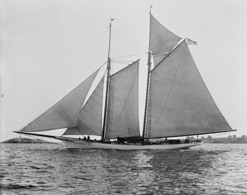 """Морской музей Сан-Диего. Яхта """"Америка"""" (оригинальная)"""