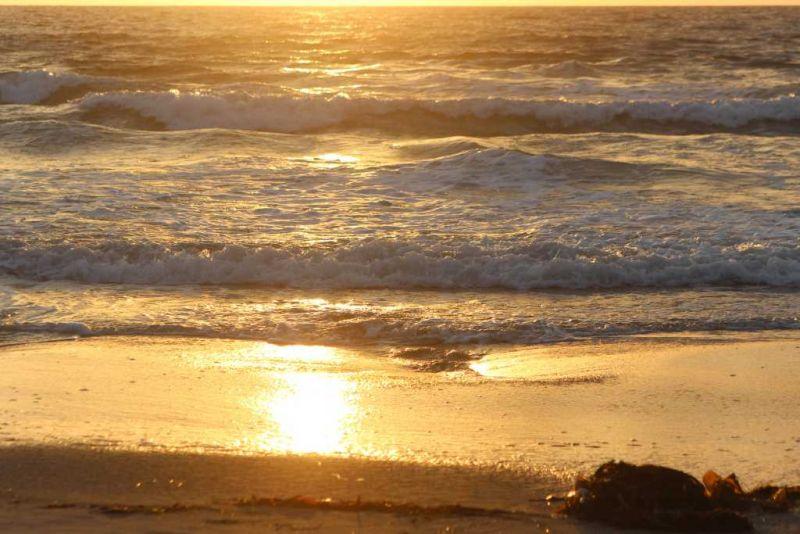 Ла-Хойя (La Jolla) Пляж La Jolla Shores Закат