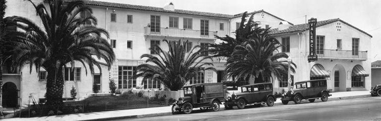 Ла-Хойя (La Jolla). Отель La Valencia после постройки