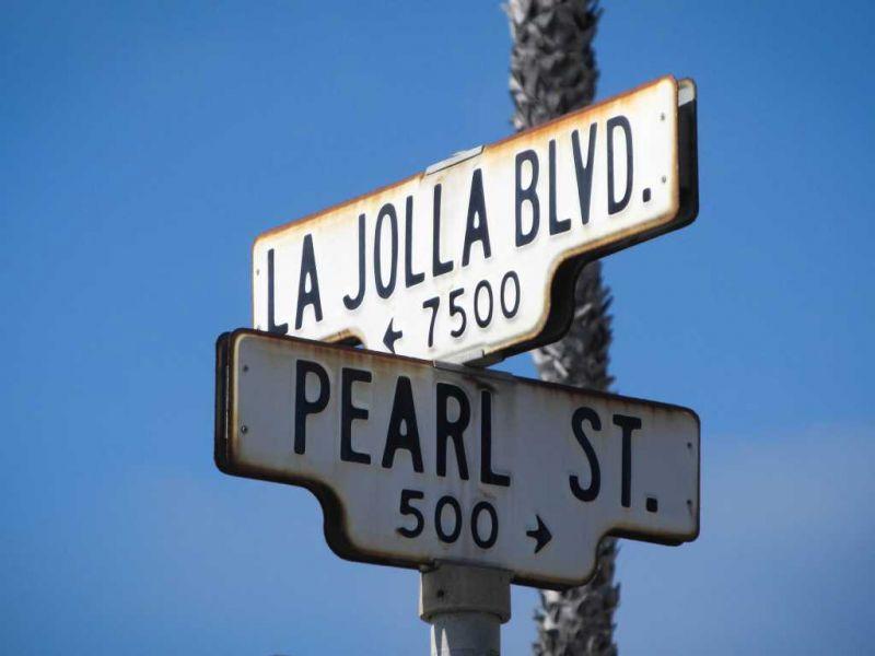 Ла-Хойя (La Jolla) Указатель улиц