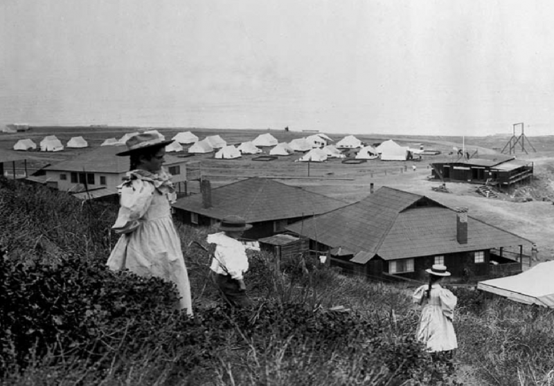 Ла-Хойя (La Jolla) Палаточный городок в 1899 году