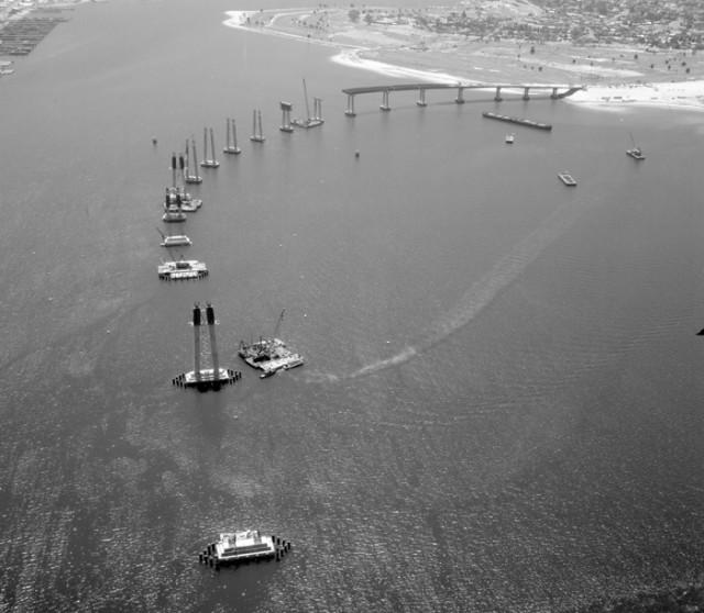 Строительство моста между Сан-Диего и Коронадо