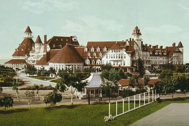 Коронадо. Hotel Del Coronado в 1900 году
