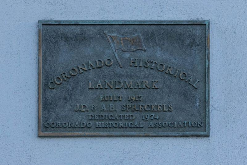 Коронадо (Coronado). Памятная табличка