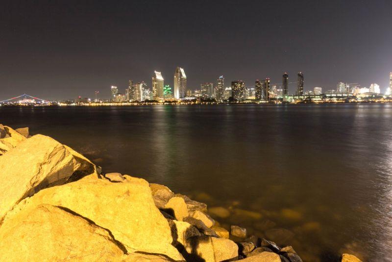 Коронадо. Вид с острова на Сан-Диего