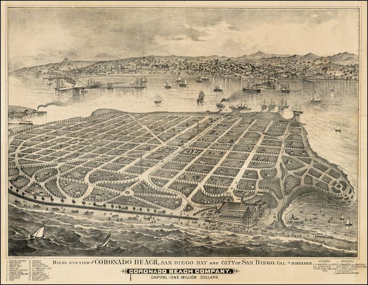 Коронадо. Карта острова с разметкой участков для аукциона