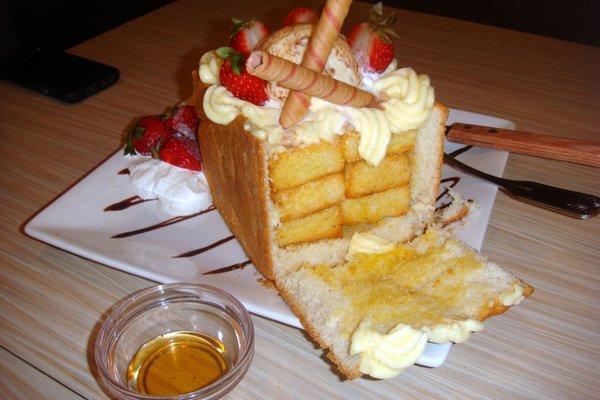 Honey Toast в разрезе