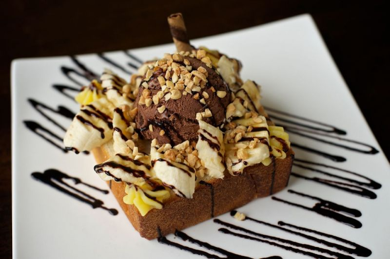 Портленд. Honey Toast Càfe. Honey Toast Вперед Бананы