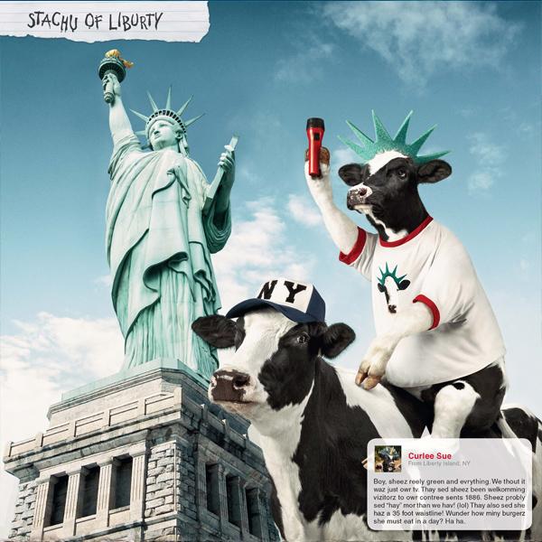 Креативная реклама. Eat Mor Chikin Cowz Calendar