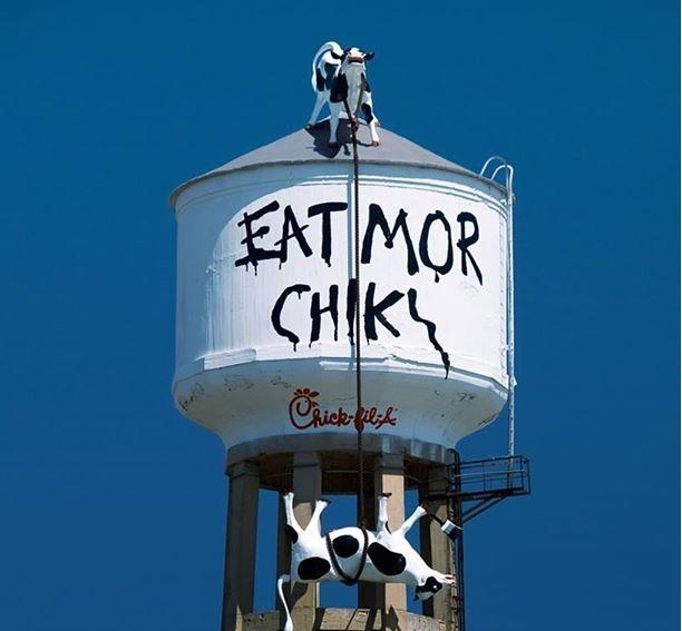 Креативная реклама. Eat Mor Chikin Cowz