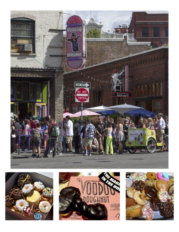 Кафе Voodoo - самое популярная донатсная Портленда