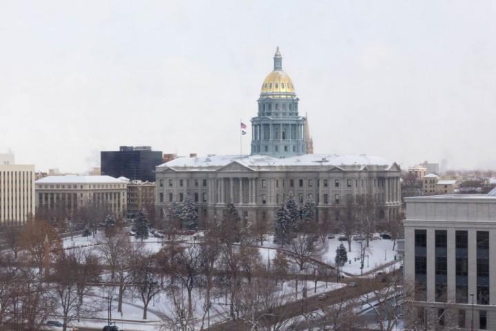 Денвер. Капитолий штата Колорадо. Вид с окон музея