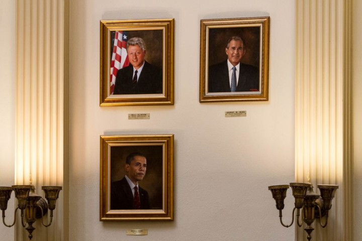 Денвер. Капитолий. Зал с портретами президентов