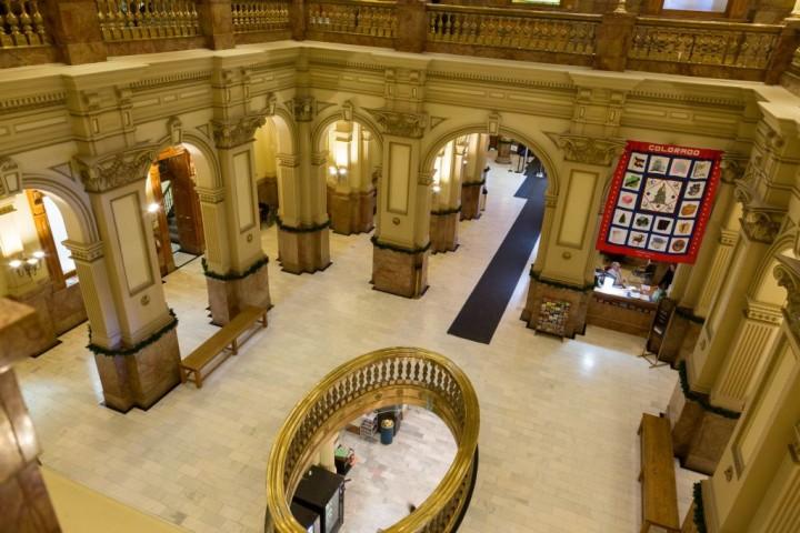 Денвер. Капитолий. Вид на холл на первом этаже