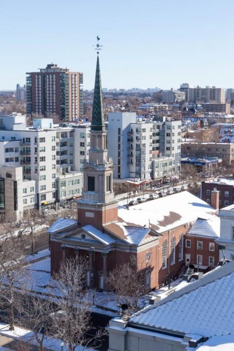 Денвер. Вид на город со смотровой площадки Капитолия