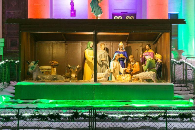 Денвер. Рождественские мотивы у здания City Hall