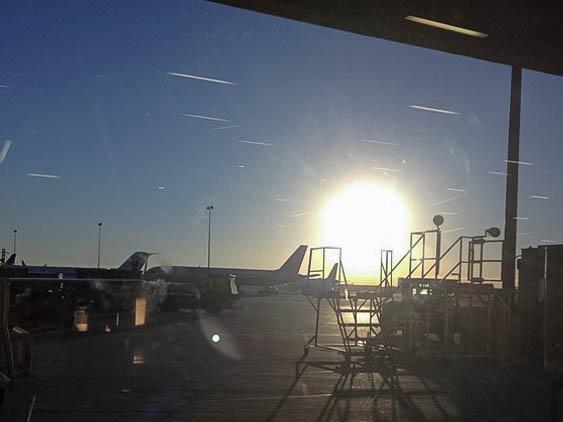 Los Angeles Airport. Sunrise