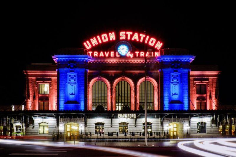 Денвер. Подсветка Union Station