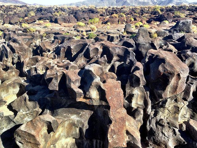 Калифорния. US-395 Fossil Falls