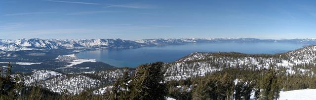Вид на озеро Тахо с Heavenly