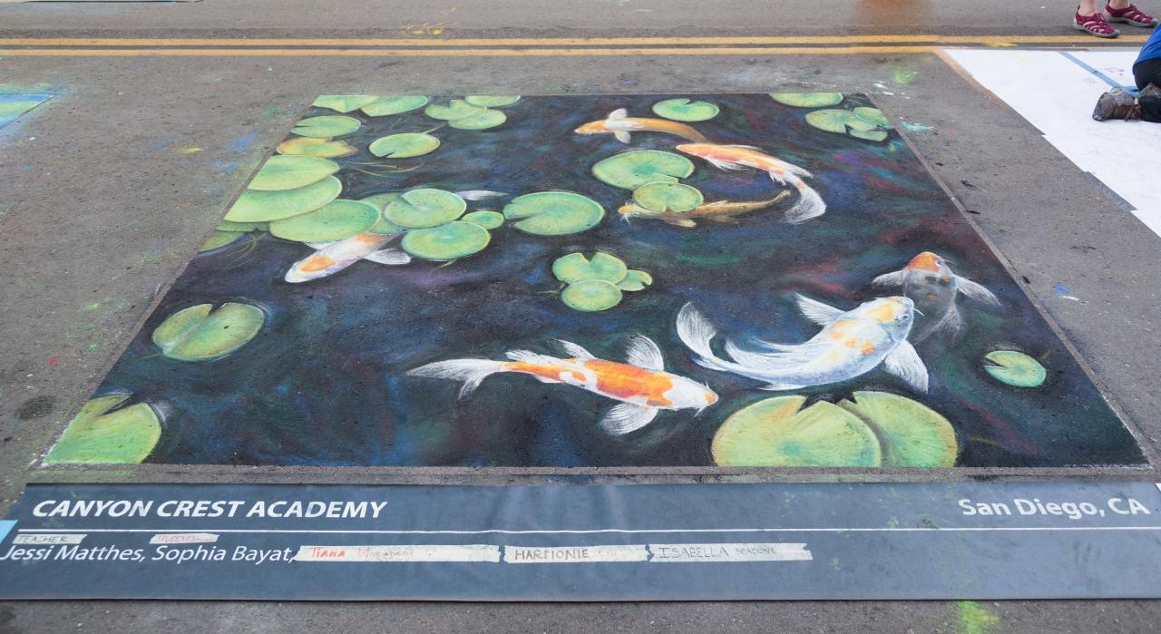 Gesso italiano. Chalk Art. Рисунки Мелом. Сан-Диего Маленькая Италия