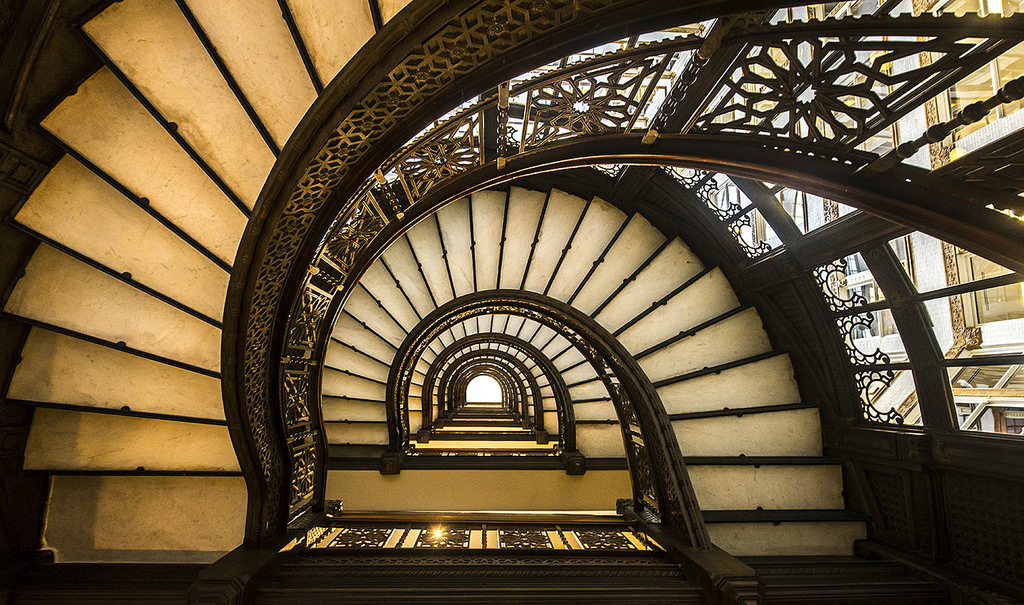 Чикаго Chicago The Rookery Лестница