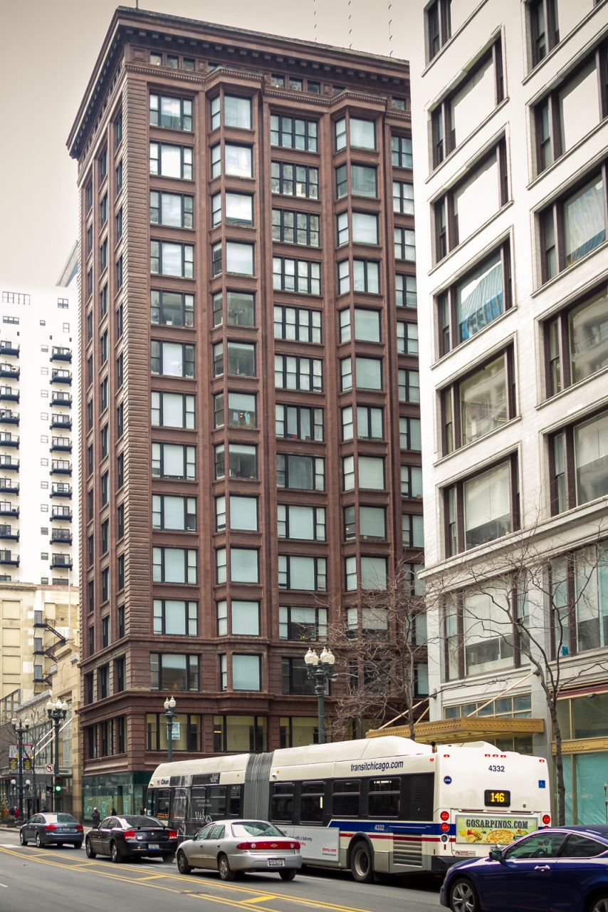 Чиканго Нулевой километр Chicago Building