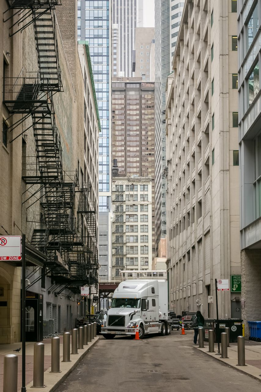 Узкие улочки Чикаго