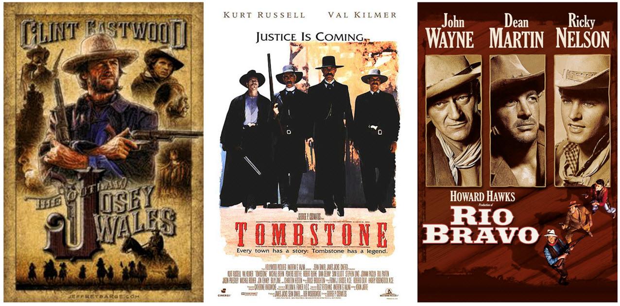 Постеры фильмов, снятых в Old Tucson. Туссон, Аризона