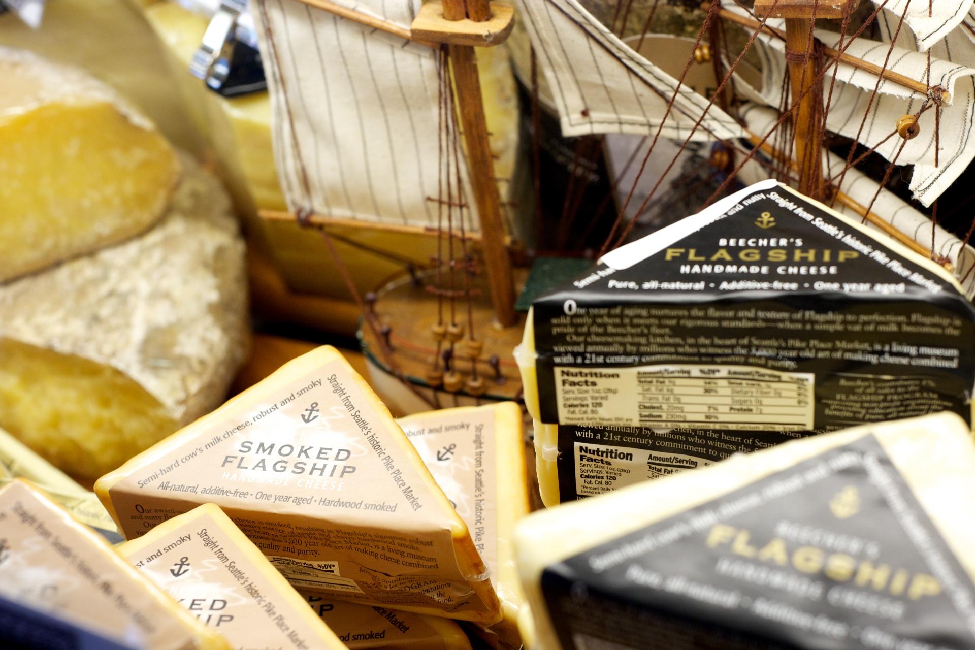 Сыр из Beecher's Handmade Cheese  Пайк Плейс Маркет Сиэтл