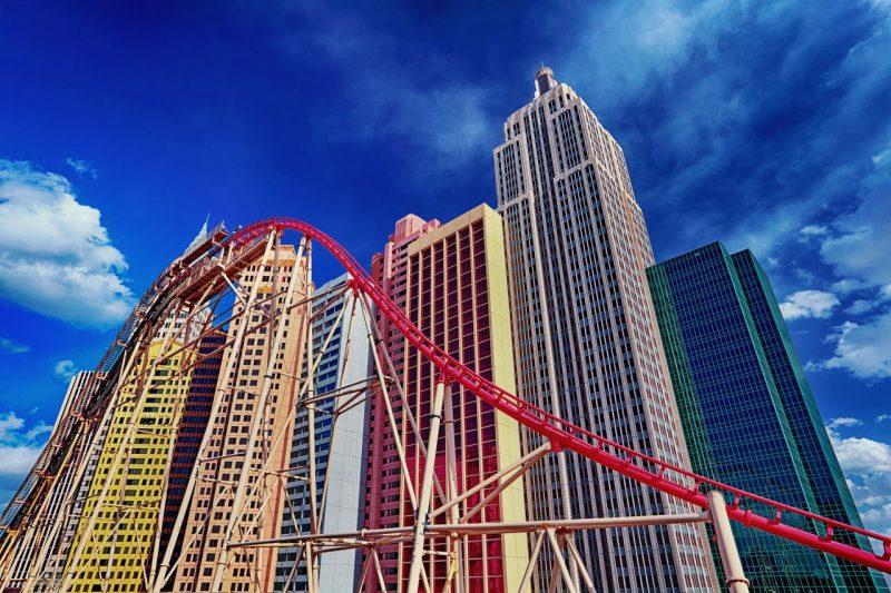Развлечения Лас-Вегаса. Американская горка в отеле New York New York
